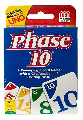 Phase 10 Card Game From Uno A Rummy Mattel Family Fun Children Friends Travel  • 3.49£