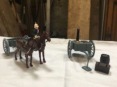 Hand Painted Soldier, Horse And Cart And Army Kitchen Set • 5£