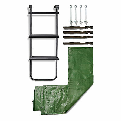 8ft Trampoline Accessory Kit - Ladder, Cover And Anchor Kit • 27.99£