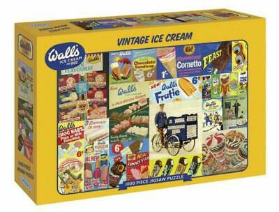 Gibsons Walls Vintage Ice Cream 1000 Piece Jigsaw Puzzle • 16.99£