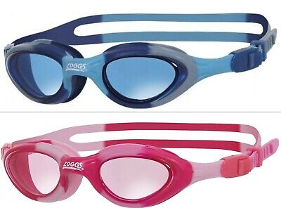 Zoggs Super Seal Junior 6-14 Year Childrens Swimming Goggles Pink Blue Camo Kids • 9.97£
