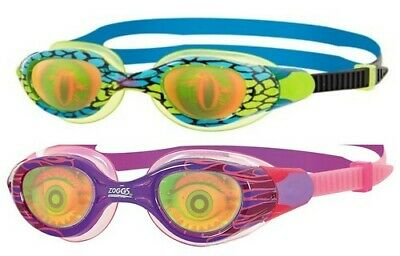 Zoggs Sea Demon Junior Swimming Goggles 6-14 Years Anti-Fog UV Kids RRP £16 • 12.97£