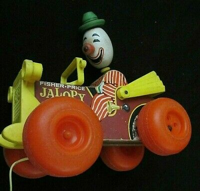 Vintage Fisher Price Mr Jalopy Pull Along Toy  [48] • 17.50£