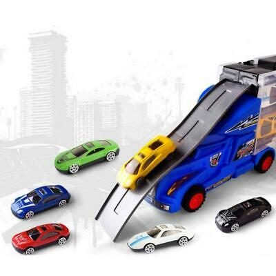 Car Transporter Vehicle And 12 Mini Die Cast Cars Truck Toy Carry Case And Track • 12.95£