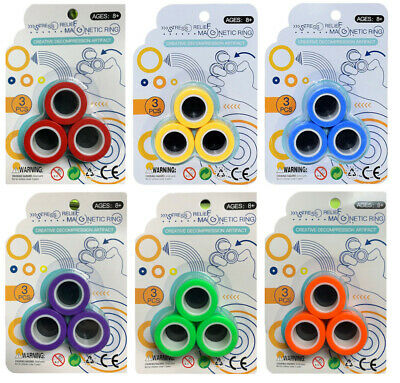 Fingears Magnetic Ring Toy Finger Spinner Multi Activity Stress Relief Calming • 2.99£
