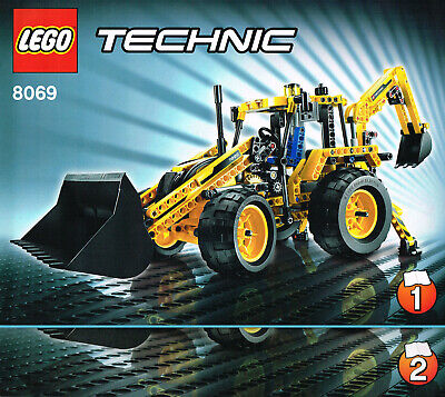 LEGO 8069 NEW Instruction Books (2) Technic Construction Backhoe Loader Manuals • 7£