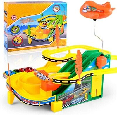 Mini Autodrome Kids Children Play Toy Racing Car Track With 4 Racing Car New • 11.95£