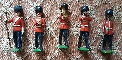 Britains And Other Bandsmen  5 White Metal Figures • 25£