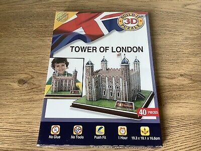 Cubicfun 3D Build It Puzzle Tower Of London New & Sealed • 8.95£