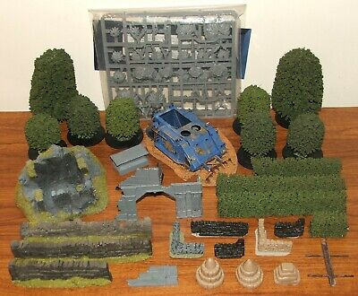 Games Workshop Scenery - Destroyed Rhino 40k Jungle Trees Hedges Walls Ruins • 39.99£
