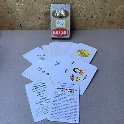 Vintage Whitmans Flash Cards - Numbers - 40+ Cards Double Sided • 4.99£