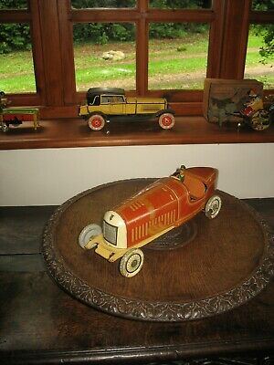 Rare Tippco Boat Tail Racing Car 16  Tinplate Germany 1920/30 Tin Toy Wind Up • 695£