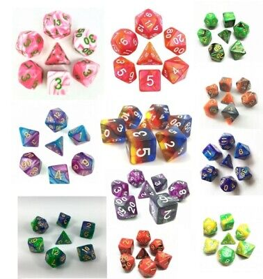 Role Playing Games Dice Sets DnD Warhammer • 2.75£
