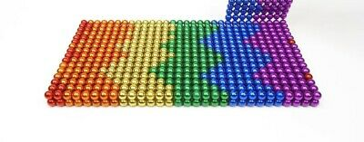 222 Pcs 5mm Magnets Beads Sphere Toys Balls Gift 6 Multicolour Stress Relief • 11.99£