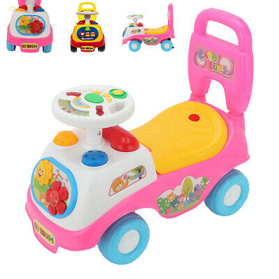 Kids First Ride On Toy Car Girls Boys Push Along Musical Car Gift Genuine UK • 13.99£