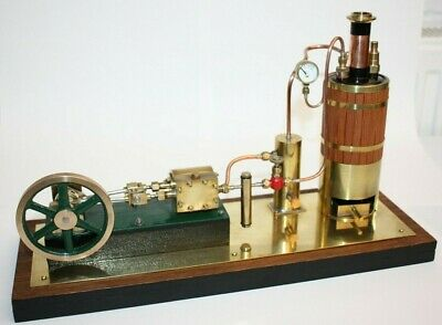 Vintage Model Live Steam Plant, Boiler, Horizontal Mill Steam Engine, SEE VIDEO • 849.99£