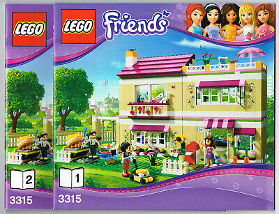 LEGO Instruction Books (2) 3315 NEW For Friends - Olivia's House - Manual • 6.50£