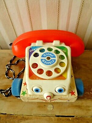 Vintage 1960s Fisher Price Phone Pull-Toy • 9£