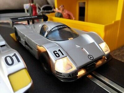 Scalextric Sauber Mercedes. LOVELY Example New Rear Tyres & Braids • 8.75£