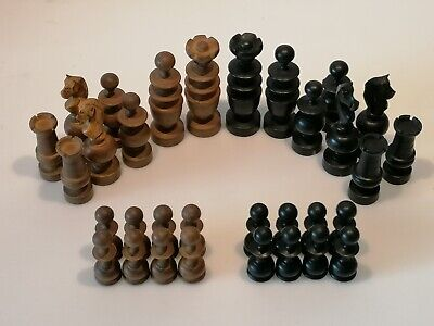 Superb, Large Antique French Régence Ebonised And Boxwood  Club Box  Chess Set • 59.50£