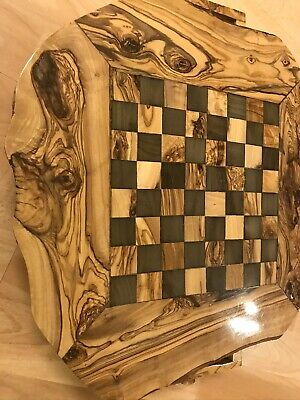 Large Olive Wood Chess Board With Free Pieces 38cm • 45£