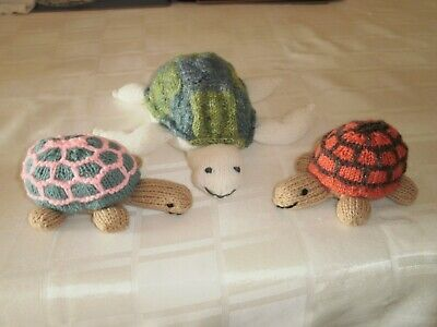 Hand Knitted Animals - Turtle And Tortoises • 2£