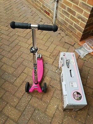 Maxi Micro Scooter Raspberry With T-bar 5+ Pink Max 50kg • 39£