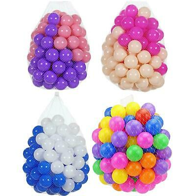 Kids Childrens Plastic Mini Play Soft Balls For Ball Pit Swim Pool Playpen Toy • 18.99£