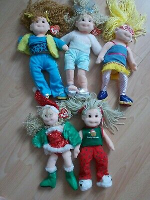 5 Vintage 2001-2002 Ty Beanie Boppers Dolls • 9£