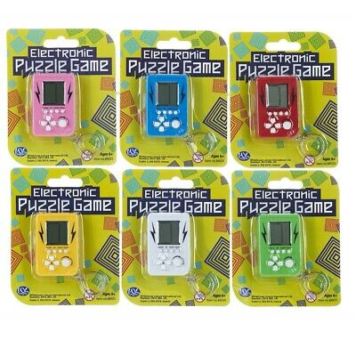1 X Electronic Puzzle Game Keyring Tetris Style Pocket Travel Game Pocket Money • 3.99£