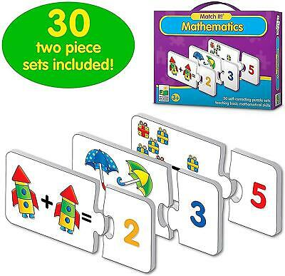 Children Match It Mathematic Educational Puzzle Set Jigsaw Toy With Learning Aid • 6.95£