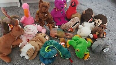 Beanie Babies Collection Bundle 17 Items Most Of Them With Tags • 6.50£