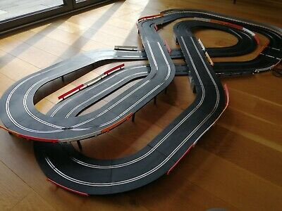 Scalextric Large Layout Double Flyover & 2 Cars Set • 80£