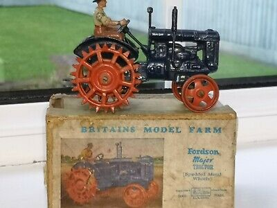 Britains 127f  Fordson Major Tractor Spud Wheels With Original Box And Driver • 155£