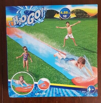 Bestway H20GO! Single Water Slide 4.88m /16ft (NEW With FREE DELIVERY) • 12.95£