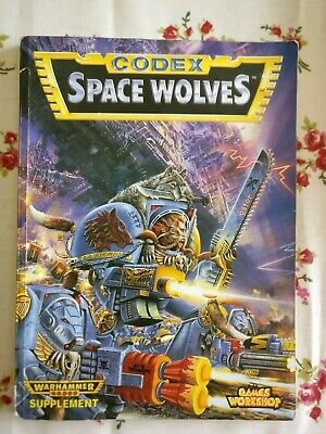 Space Wolves Codex 2nd Second Edition Warhammer 40,000 Rule Book Rulebook 1994 • 6.50£