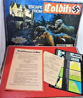 VINTAGE 1973 ESCAPE FROM COLDITZ 1st Ed  POW WWII BOARD GAME -COMPLETE EXCELLENT • 5.50£