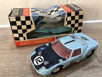 Vintage SCALEXTRIC C77 Ford GT - 100% Original - 1960s Tri Ang • 28£