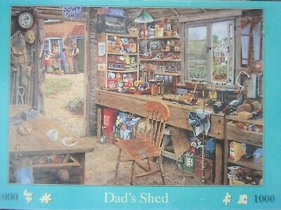 Dad's Shed ~ 1000 Piece House Of Puzzles Jigsaw Puzzle • 6.95£