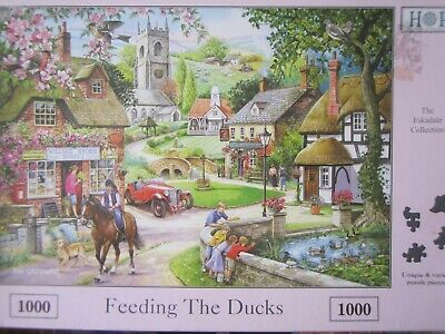 Feeding The Ducks ~ 1000 Piece House Of Puzzles Jigsaw Puzzle • 6.95£