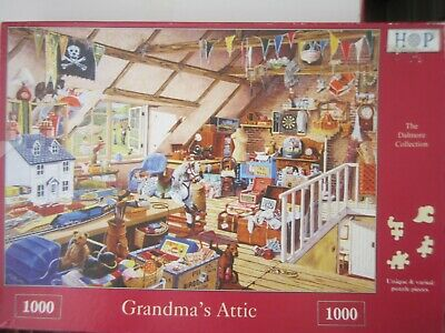 Grandma's Attic ~ 1000 Piece House Of Puzzles Jigsaw Puzzle • 6.95£
