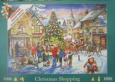 Christmas Shopping ~ 1000 Piece House Of Puzzles Jigsaw Puzzle • 6.95£