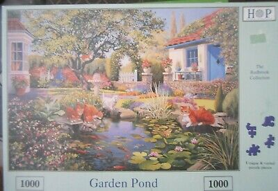Garden Pond ~ 1000 Piece House Of Puzzles Jigsaw Puzzle • 6.95£
