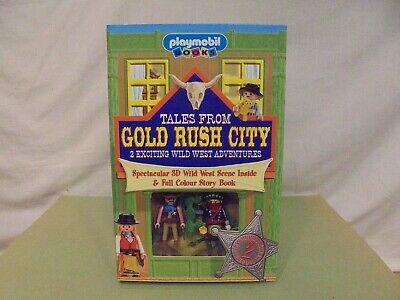 Playmobil - WESTERN PLAY SET  TALES FROM GOLD RUSH CITY  - MINT In MINT 3D BOX • 27.99£
