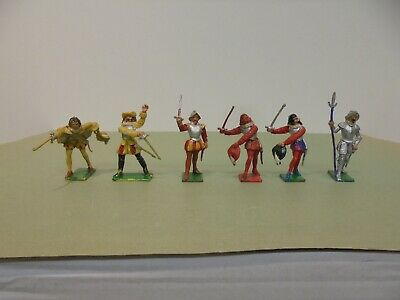 Cherilea Toys - 6 X ELIZABETHAN FIGURES - VERY GOOD To EXCELLENT USED Condition. • 34.99£