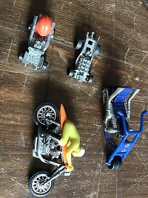 "COLLECTION Hot Wheels RRRumblers Motor Cycle & Rider No.6 Made In Hong 1.5"" • 12£"