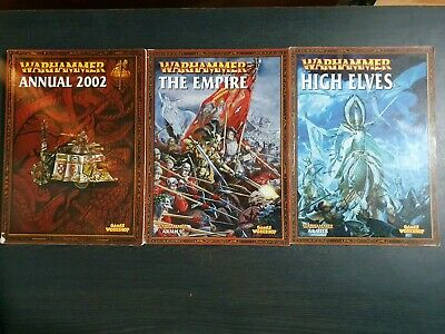 Warhammer Fantasy Battle Armies Army Books 6th 7th Edition Books Empire High Elf • 20£