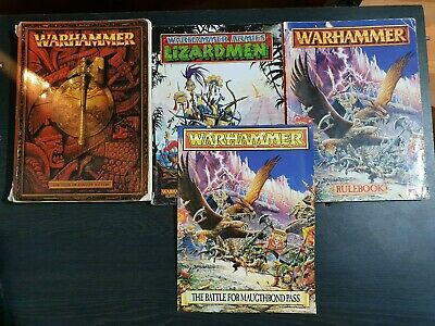 Warhammer Fantasy Battle Armies Army Books Lizardmen High Elves Rulebooks  • 20£