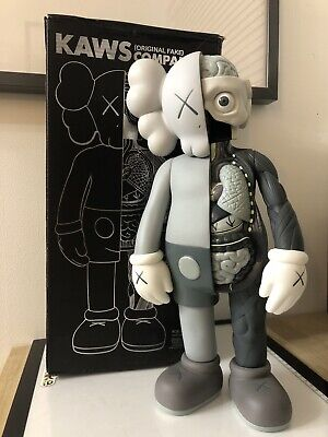 KAWS Companion Dissected 16' PVC Action Figure Toy Grey • 75£