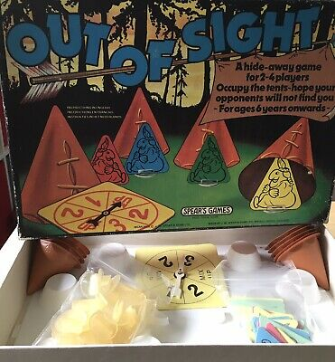 Vintage Board Game, Out Of Sight, Spears Games 1979 Great Condition! Complete. • 6.80£